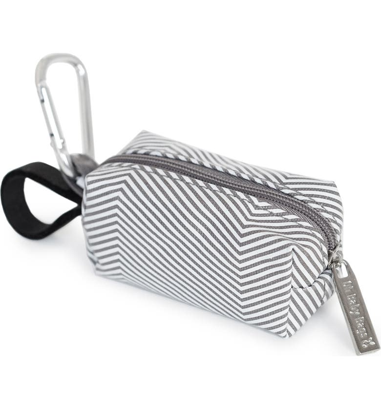 OH BABY BAGS Portable Clip-On Dispenser with Bags, Main, color, GREY STRIPE