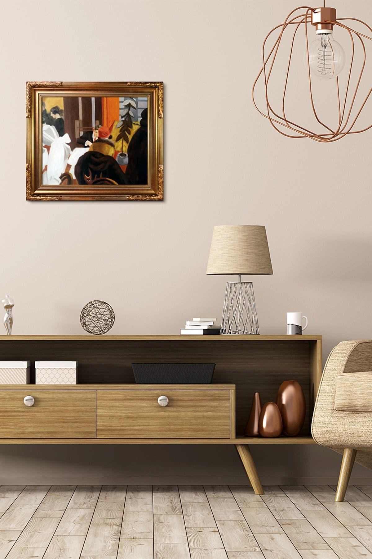 "Image of Overstock Art New York Restaurant Framed Oil Reproduction of Original Painting by Edward Hopper - 31""x27"""