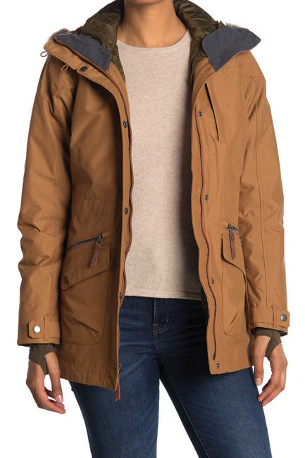 Image of Columbia Carson Pass Interchangeable 3-in-1 Faux Fur Trim Hooded Jacket