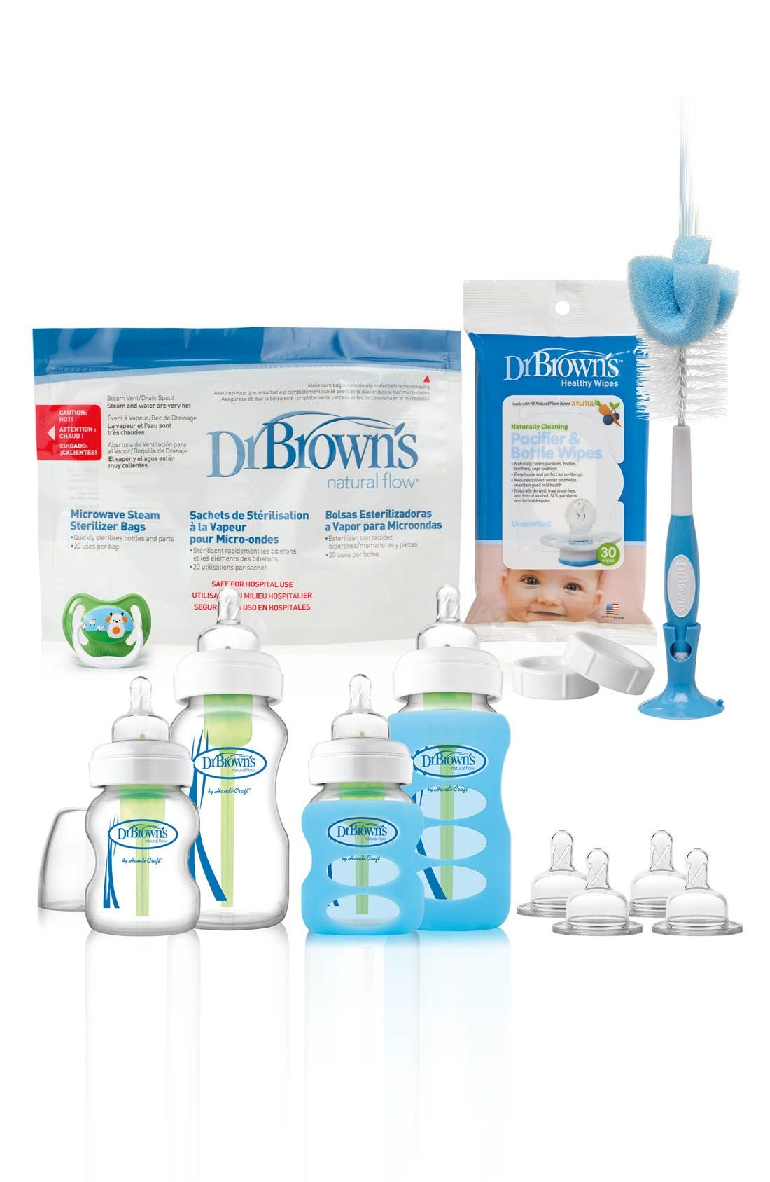 Infant Dr Browns Options Glass Bottle Starter Set Size One Size  White
