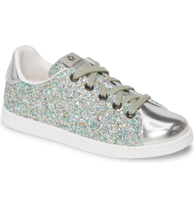 VICTORIA SHOES Glitter Sneaker, Main, color, 040
