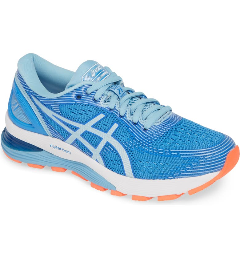 ASICS<SUP>®</SUP> GEL-Nimbus 21 Running Shoe, Main, color, BLUE COAST/ SKYLIGHT