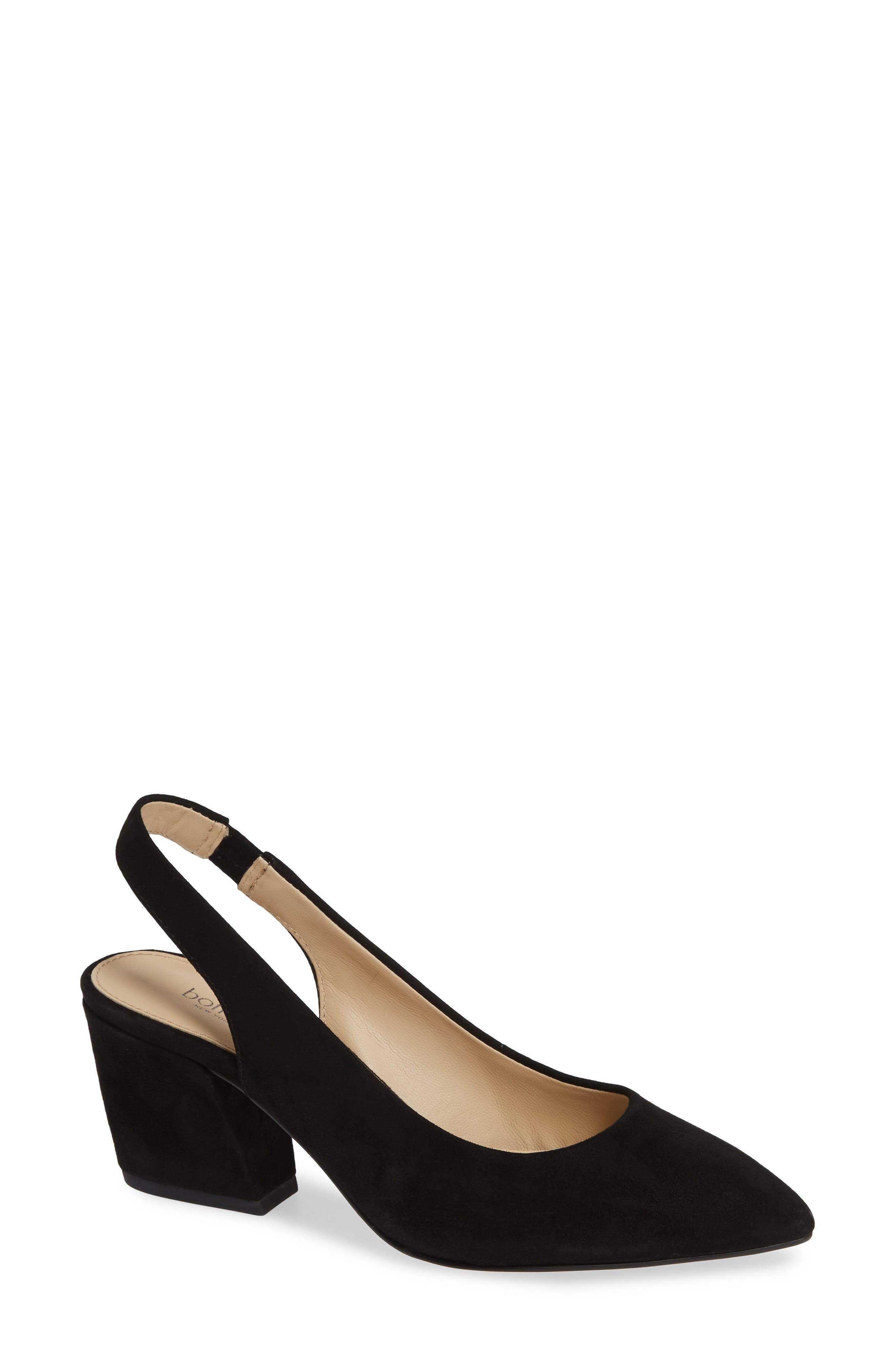 A gently sloped heel lifts a perfectly poised slingback pump crafted from soft suede. Style Name: Botkier Shayla Slingback Pump (Women). Style Number: 5745845 4. Available in stores.