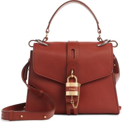 Chloe Aby Medium Leather Shoulder Bag - Brown
