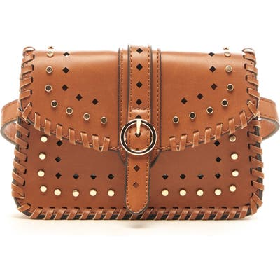 Sole Society Ivah Studded Belt Bag - Brown
