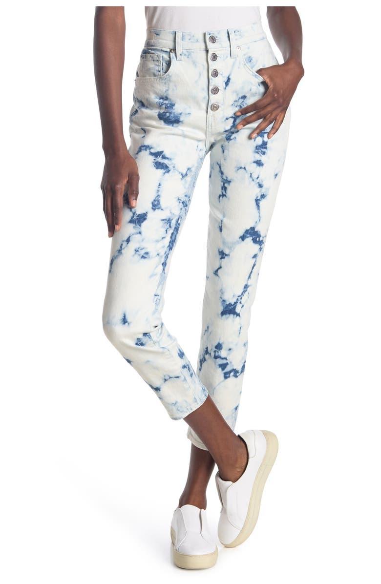 VERONICA BEARD Debbie High Rise Tie Dye Jeans, Main, color, TIE DYE