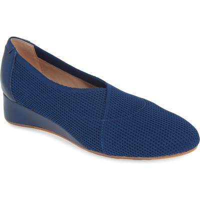Taryn Rose Collection Celeste Slip-On Wedge- Blue