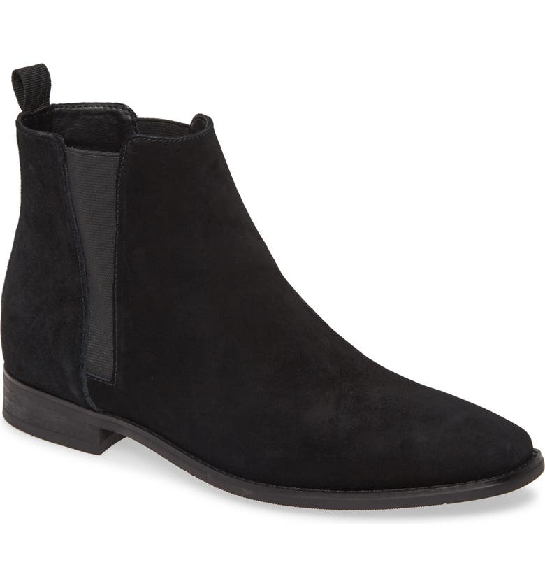 CALVIN KLEIN Rusty Chelsea Boot, Main, color, BLACK