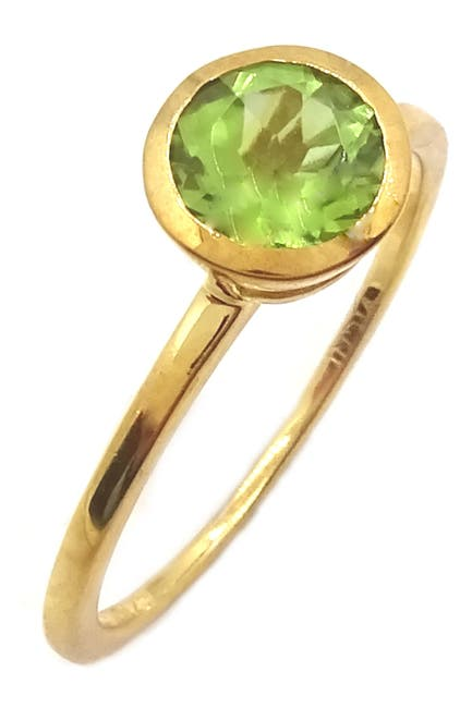 Image of Savvy Cie 18K Gold Vermeil Peridot Solitaire Ring