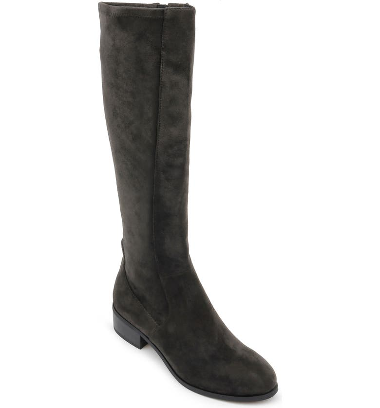 SPLENDID Patch Knee High Boot, Main, color, STONE SUEDE