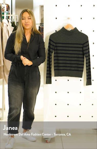 Breton Stripe Turtleneck Cashmere Sweater, sales video thumbnail