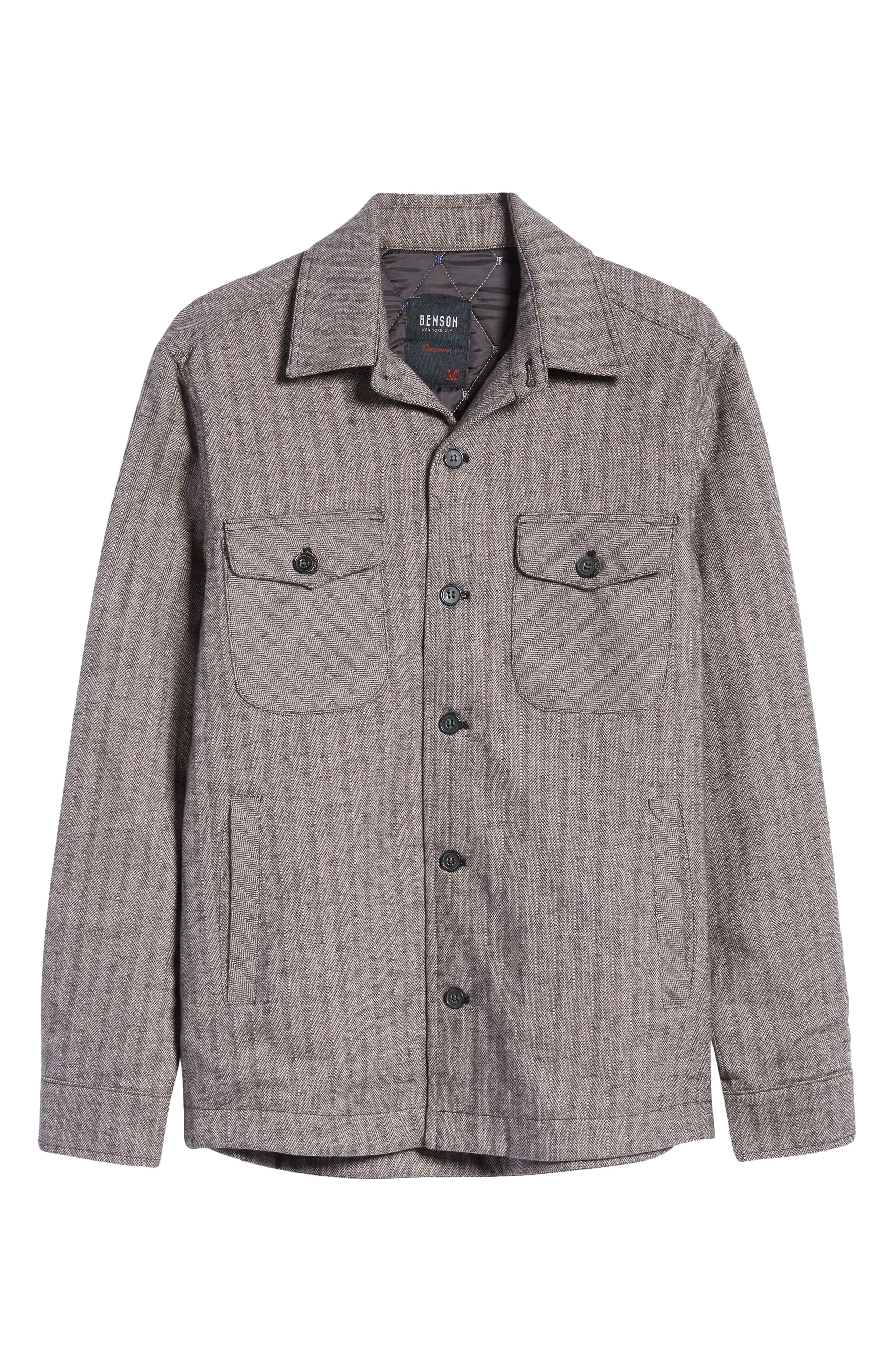 Men's Vintage Workwear – 1920s, 1930s, 1940s, 1950s Mens Benson Cotton Shirt Jacket Size XX-Large - Grey $225.00 AT vintagedancer.com