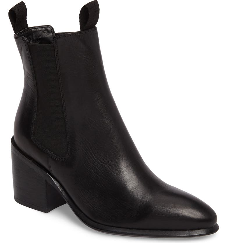 TONY BIANCO Hampton Bootie, Main, color, BLACK LEATHER