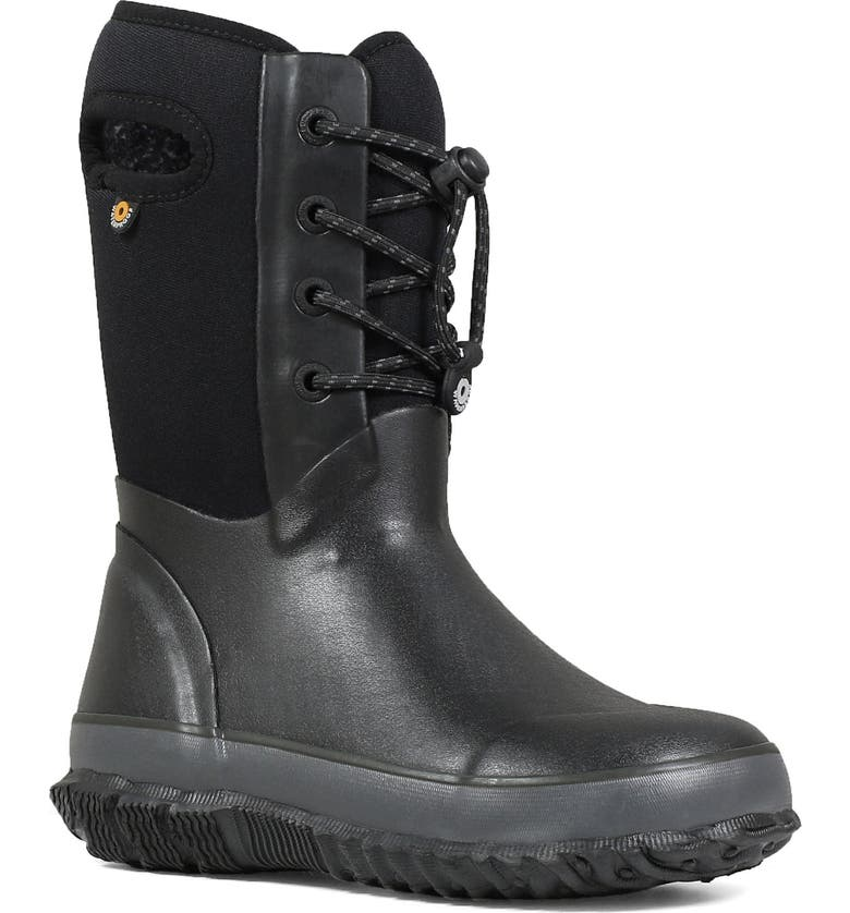 BOGS Arcata Lace Waterproof Insulated Boot, Main, color, BLACK