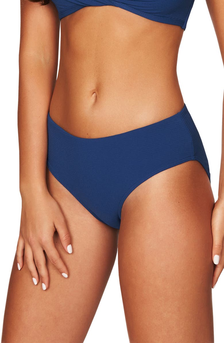 SEA LEVEL Mid Bikini Bottoms, Main, color, OCEAN BLUE