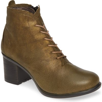 Fly London Inet Round Toe Bootie, Green