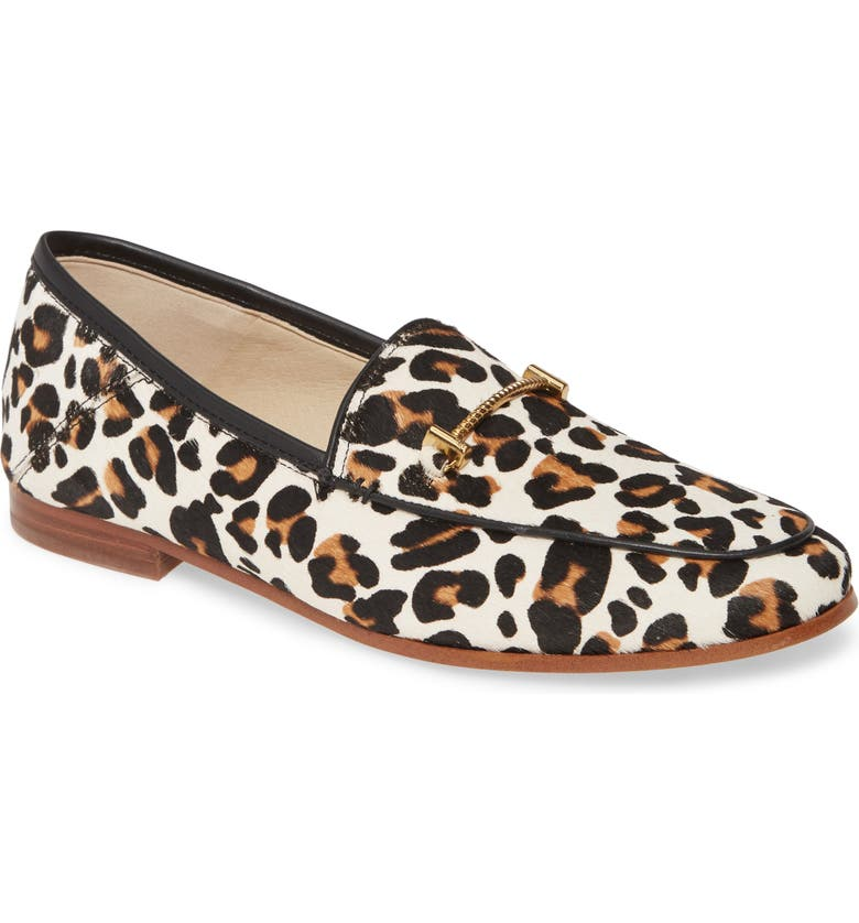 SAM EDELMAN Lior Genuine Calf Hair Loafer, Main, color, WHITE BROWN MULTI LEOPARD