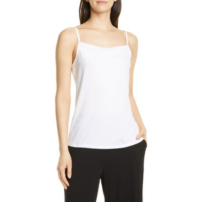 Eileen Fisher Square Neck Camisole, White