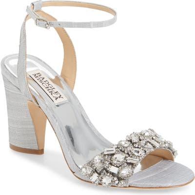 Badgley Mischka Jill Ankle Strap Sandal- Metallic