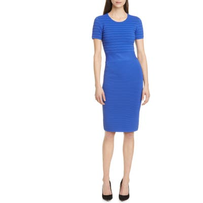 Emporio Armani Ottoman Rib Midi Dress, US / 42 IT - Blue
