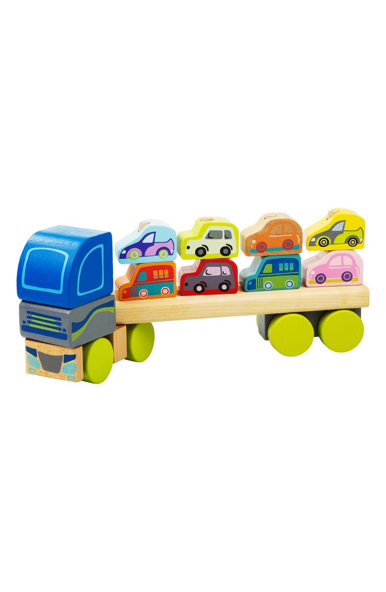 CUBIKA Wooden Truck with Cars, Main, color, MULTICOLOR