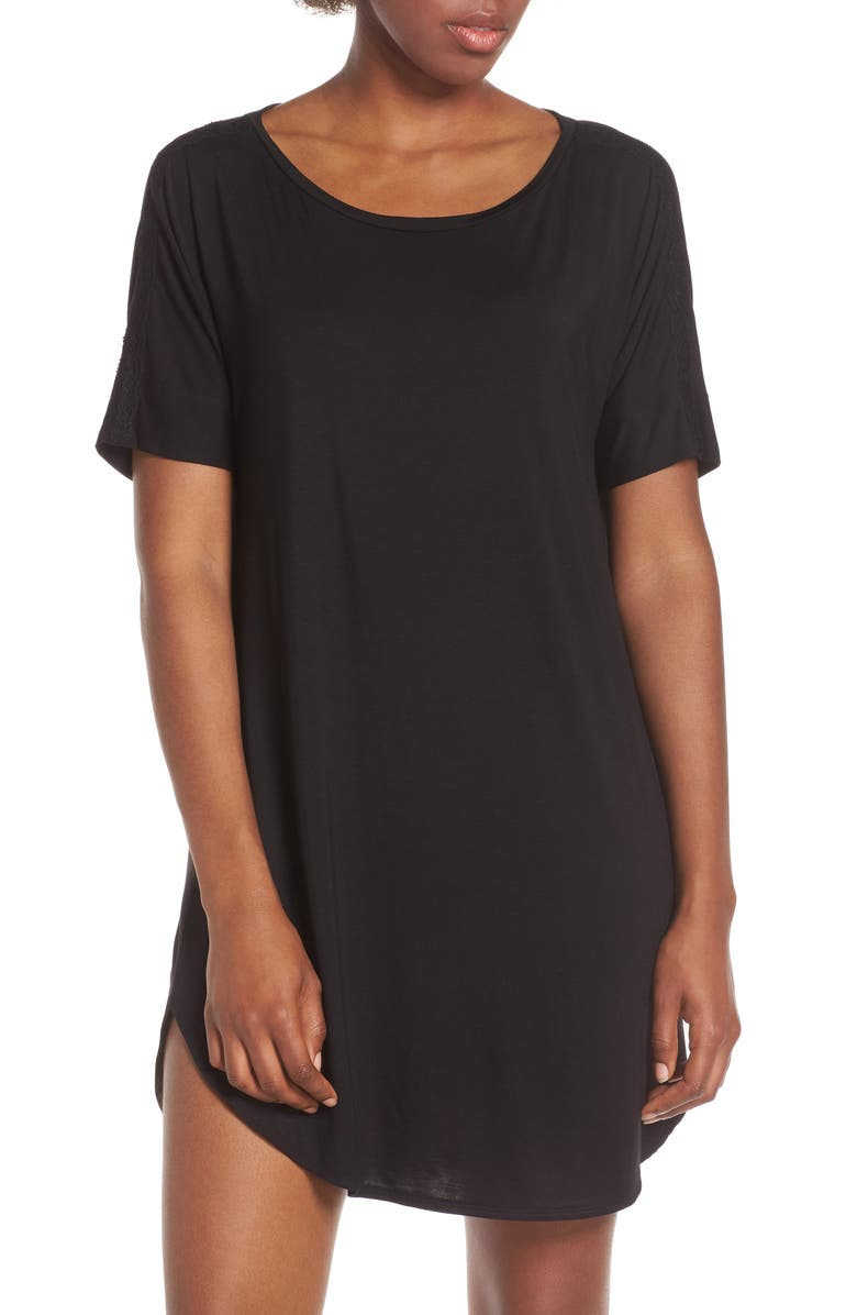 NATORI Feathers Essential Sleep Shirt, Main, color, 001
