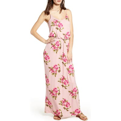 All In Favor Knit Maxi Dress, Pink