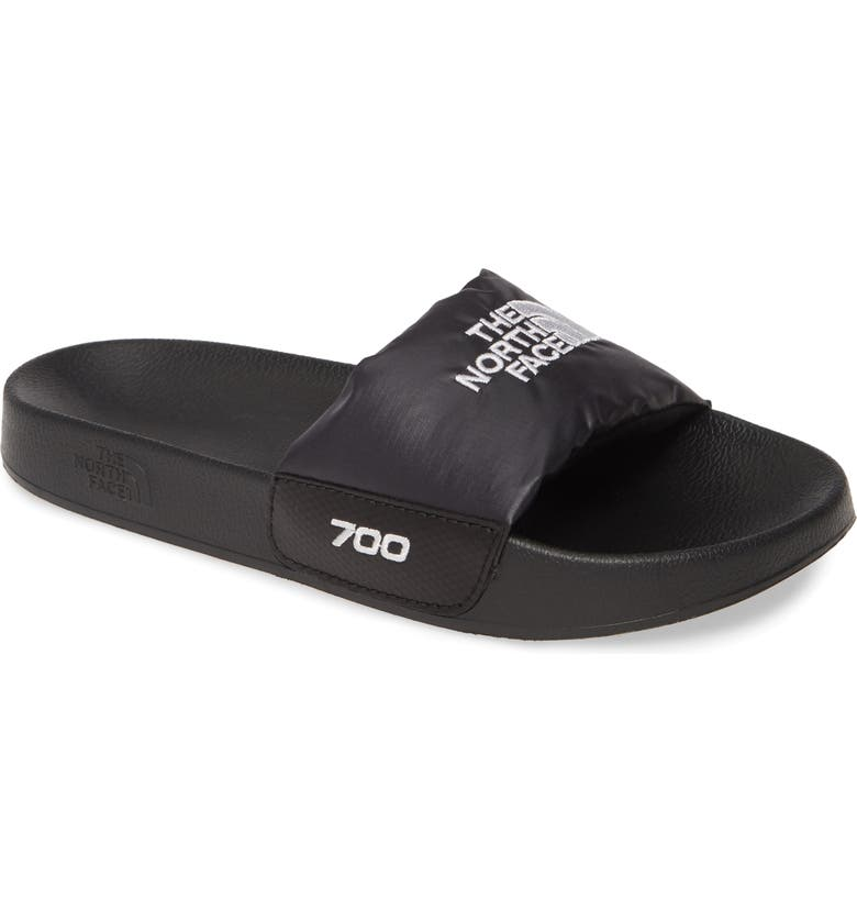 THE NORTH FACE Nuptse<sup>®</sup> Down Fill Slide Sandal, Main, color, BLACK/ WHITE