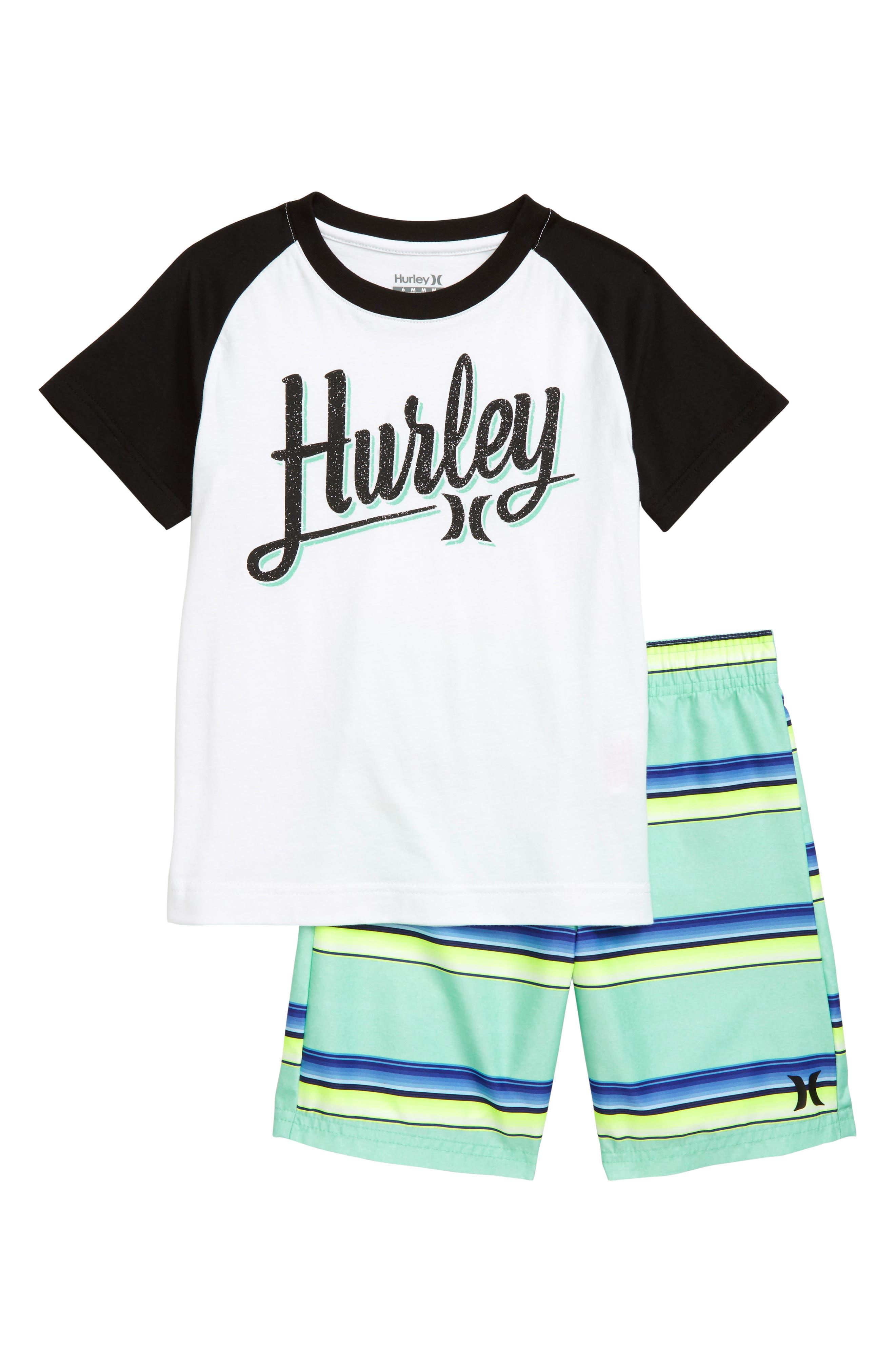 Toddler Boys Hurley Rainforest Shirt  Shorts Set