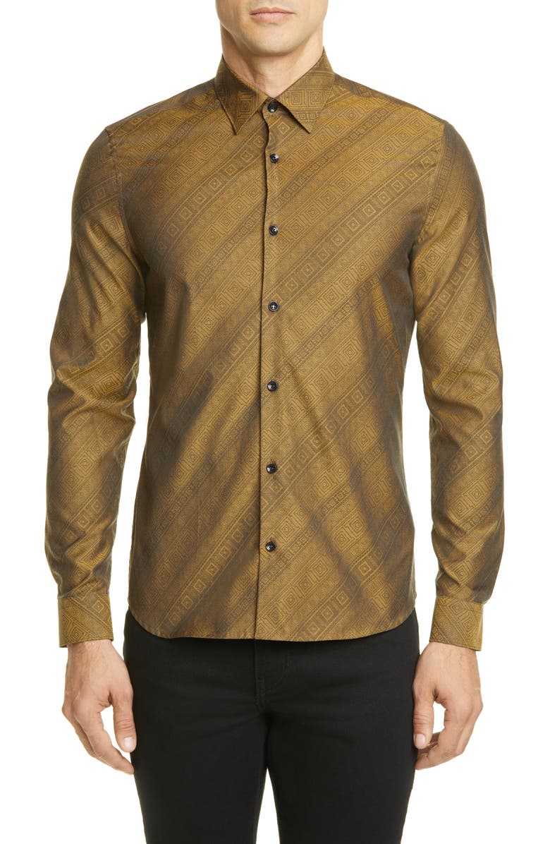 VERSACE COLLECTION Print Shirt, Main, color, 760