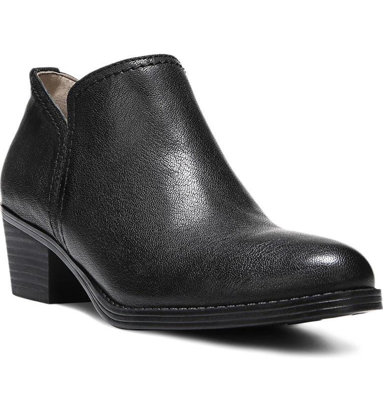 NATURALIZER 'Zarie' Block Heel Bootie, Main, color, BLACK LEATHER