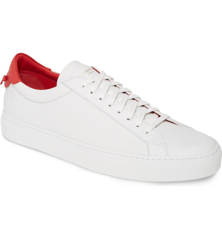 GIVENCHY Urban Knots Low Top Sneaker, Main, color, WHITE/ RED