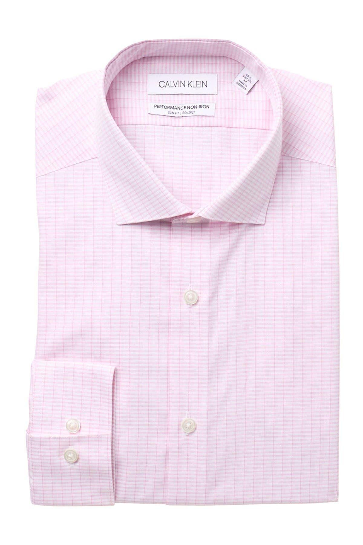 Image of Calvin Klein Slim Fit Non-Iron Slim Fit Dress Shirt