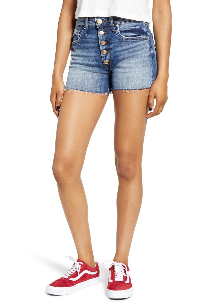 STS BLUE Kate High Waist Denim Shorts, Main, color, 400