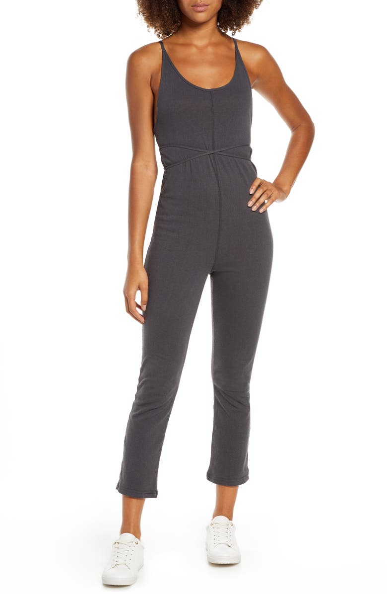 SPIRITUAL GANGSTER Knotted Sleeveless Jumpsuit, Main, color, VTB