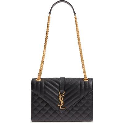 Saint Laurent Medium Cassandra Calfskin Shoulder Bag -
