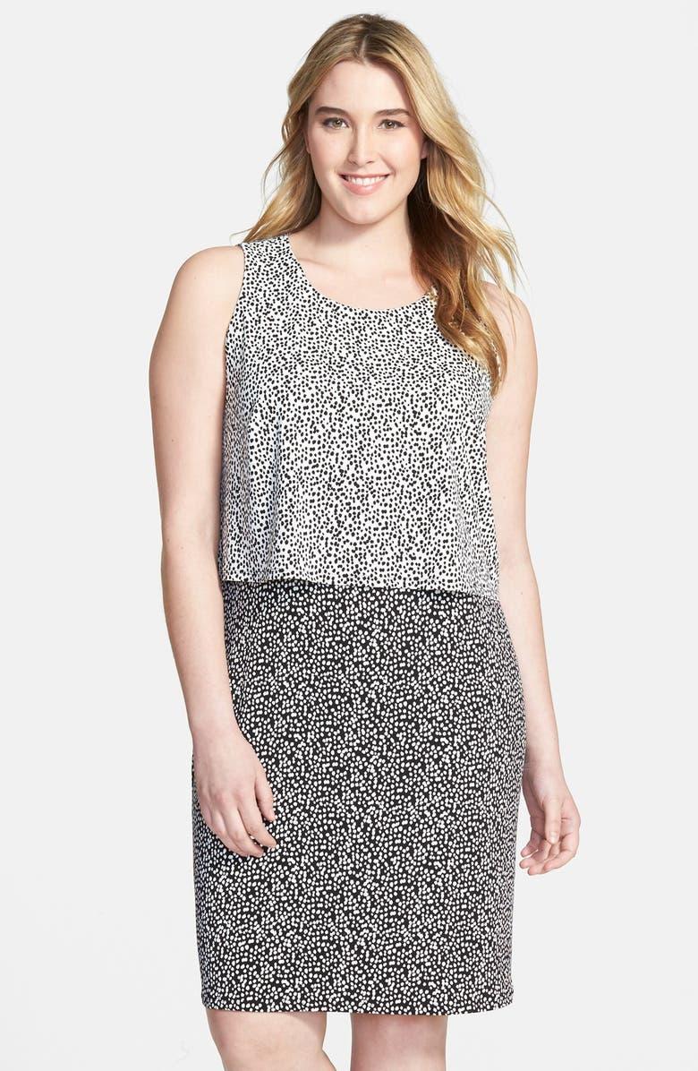 Vince Camuto Dabble Dot Popover Dress Plus Size Nordstrom