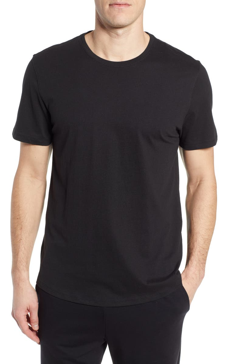 NORDSTROM MEN'S SHOP Solid Crewneck Lounge T-Shirt, Main, color, BLACK