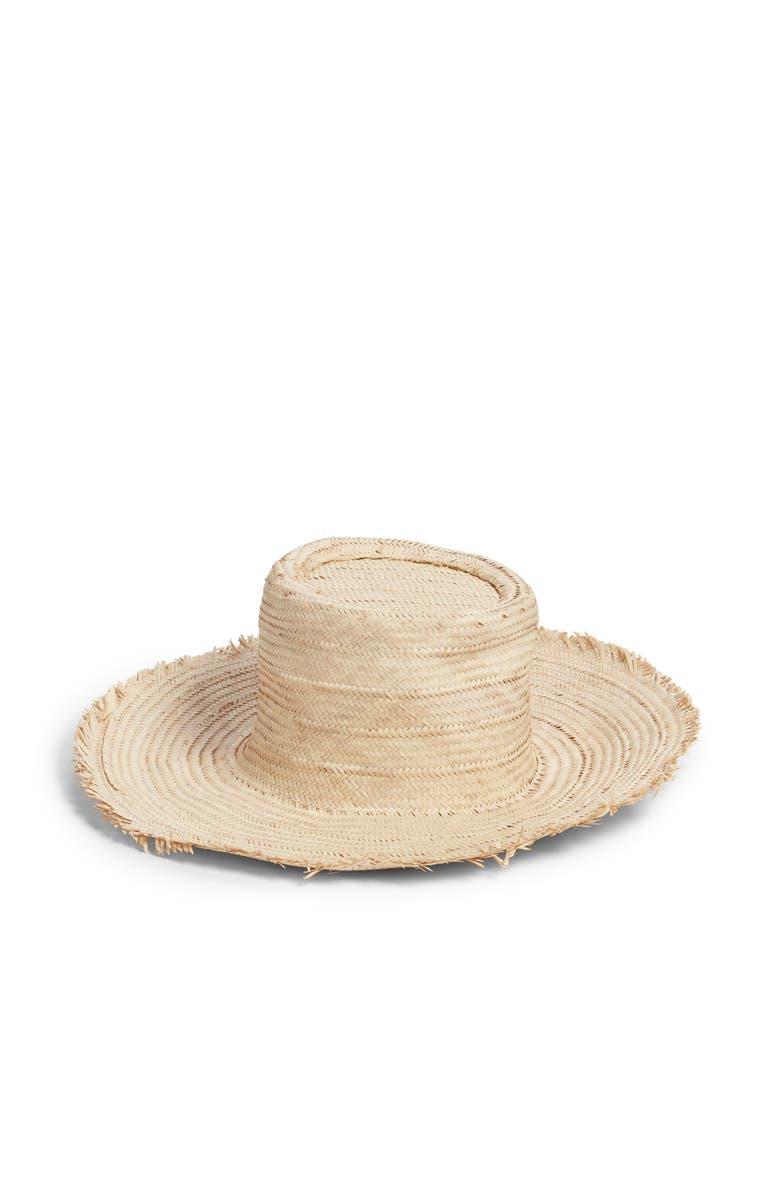 INDEGO AFRICA Woven Palm Leaf Hat, Main, color, PALM LEAF