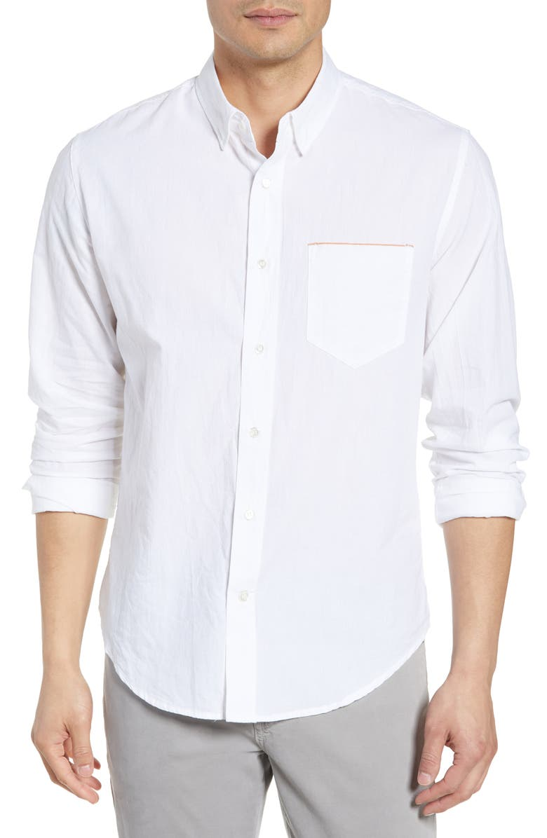 BILLY REID Standard Fit Sport Shirt, Main, color, WHITE