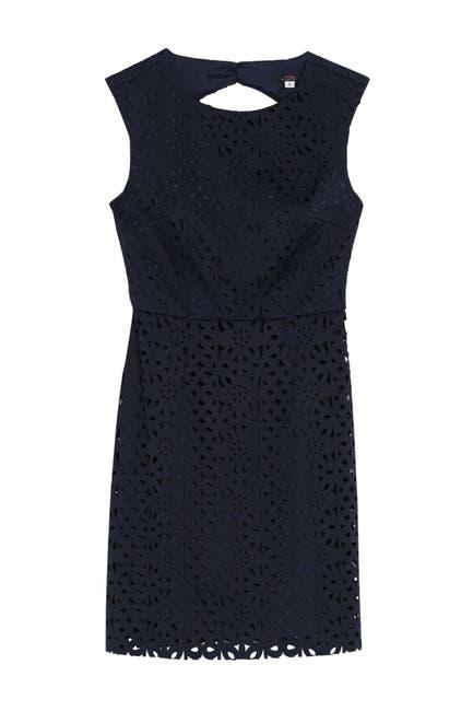 Image of trina Trina Turk Carousel Lasercut Lace Sheath Dress