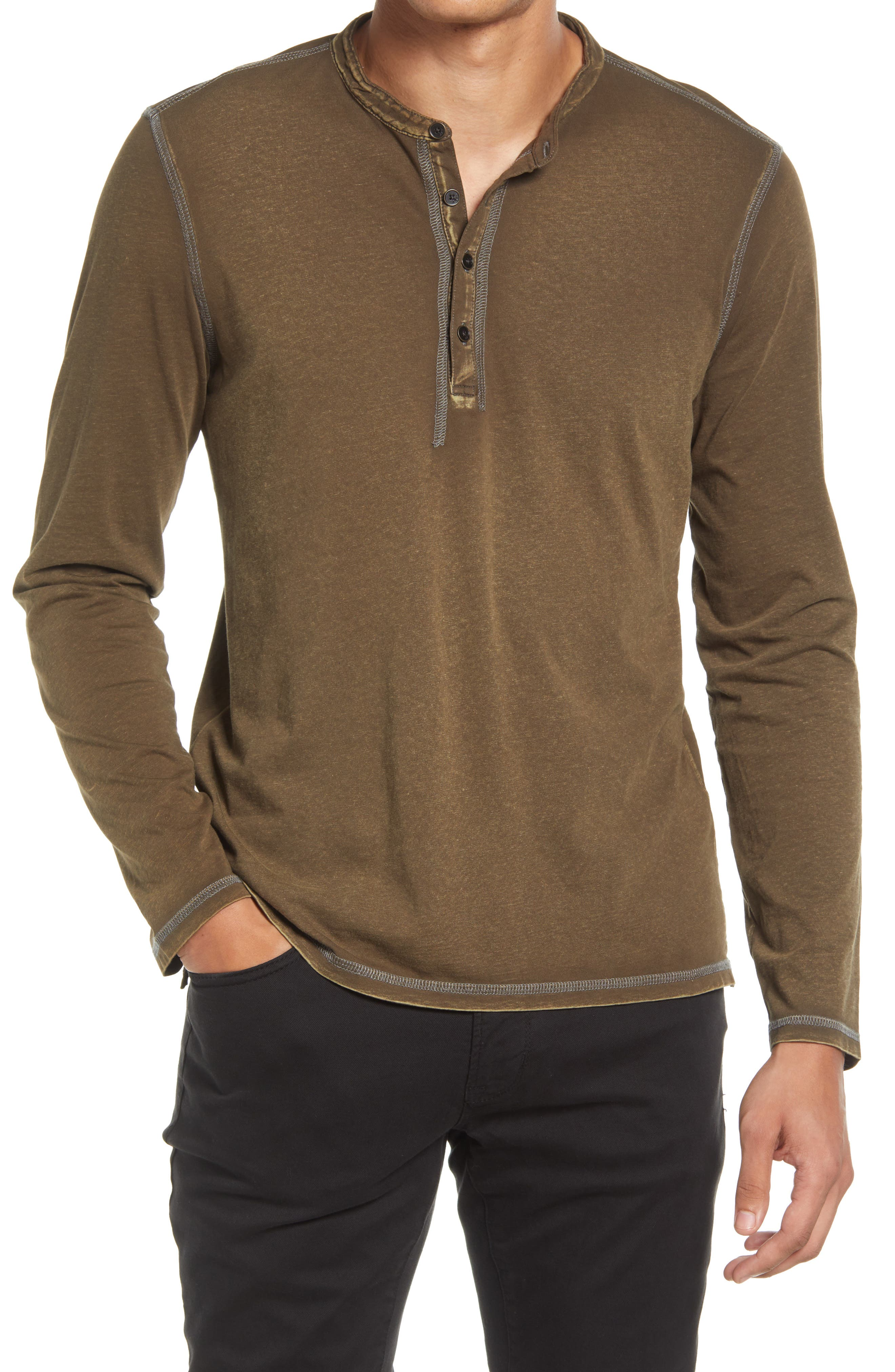 Hawke Pigment Rub Henley Shirt