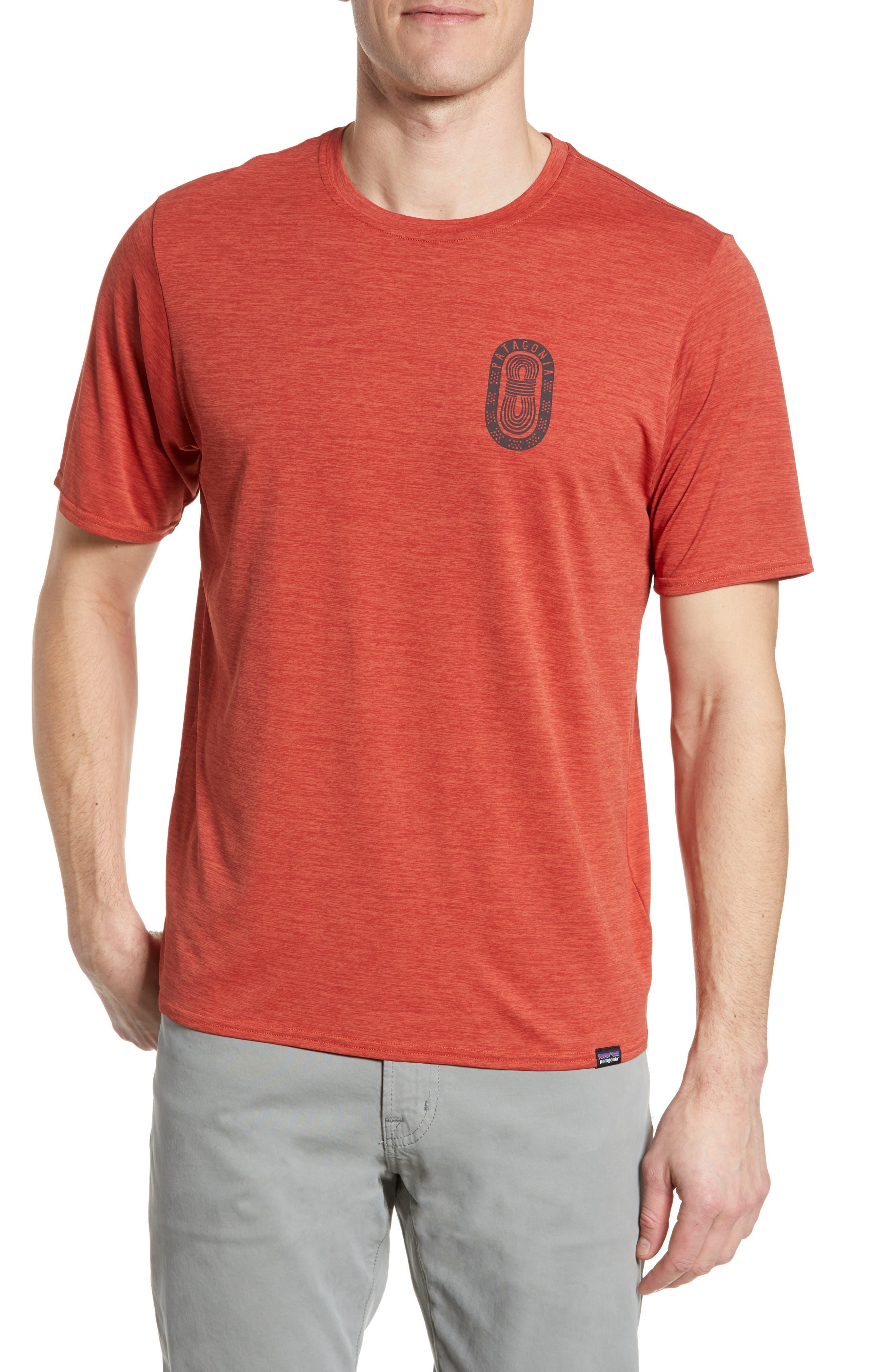 Patagonia Capilene Cool Daily Graphic T-Shirt, Orange