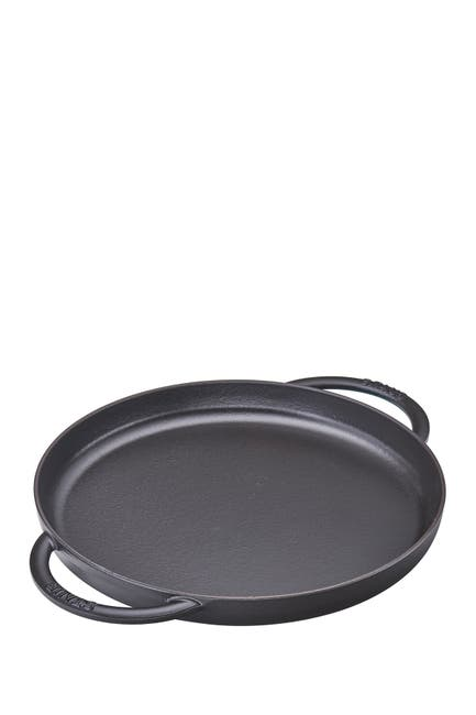 "Image of Staub Cast Iron 12"" Round Griddle Pan - Black"