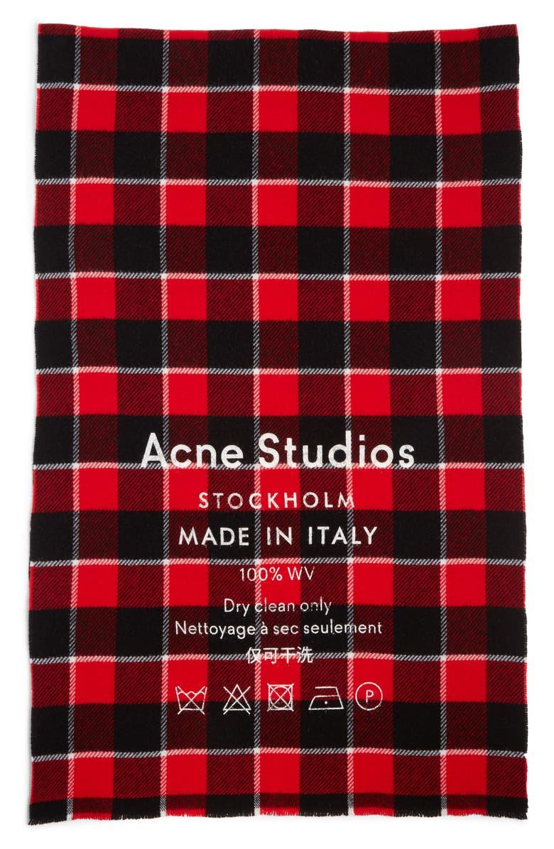 ACNE STUDIOS Cassiar Check Scarf, Main, color, 600