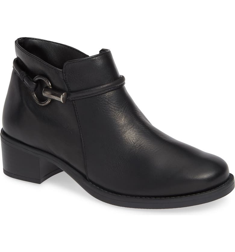 DAVID TATE Miller Low Bootie, Main, color, BLACK LEATHER