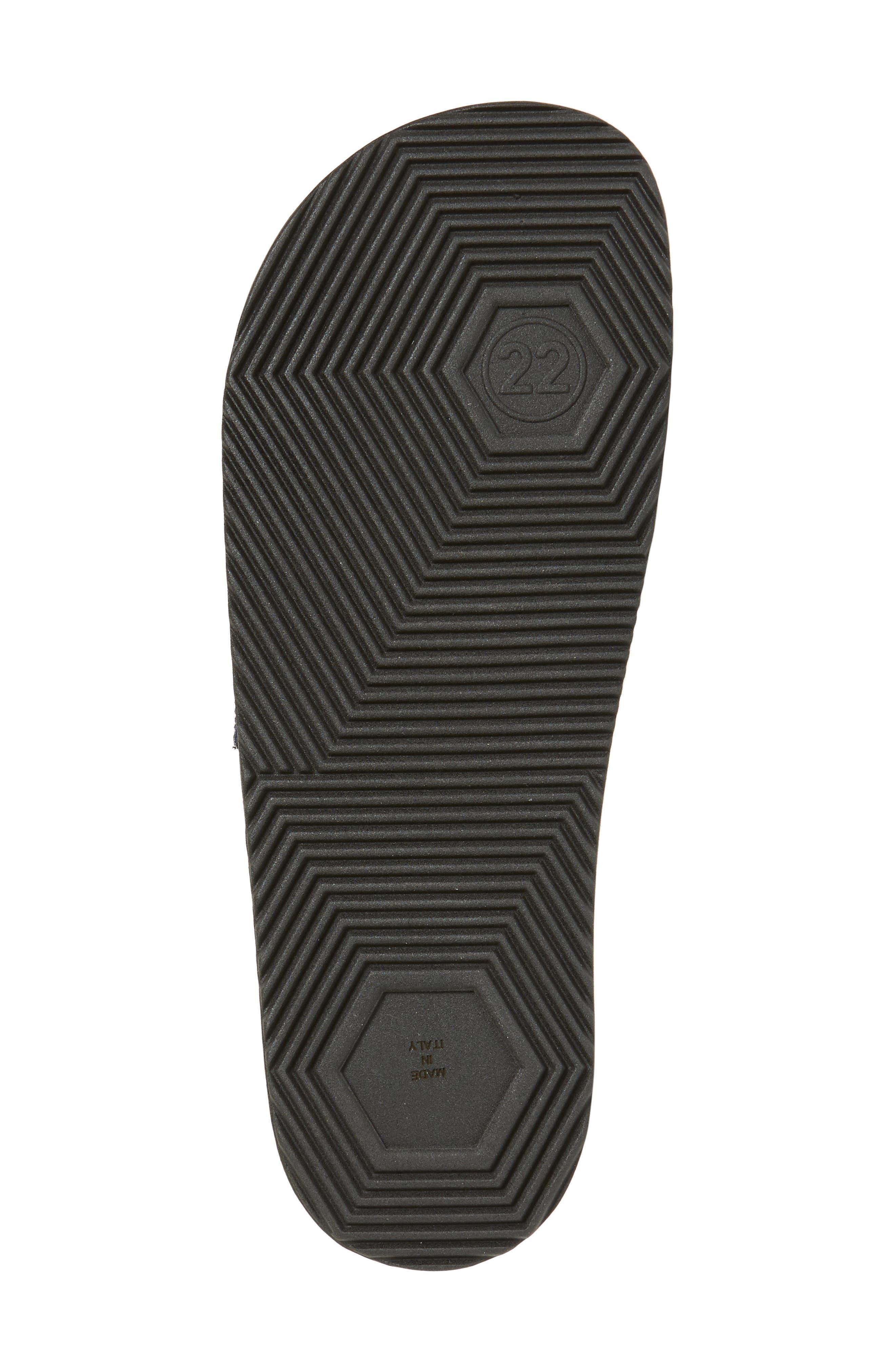 ,                             Pool Slide Sandal,                             Alternate thumbnail 6, color,                             BLACK/ OFF WHITE