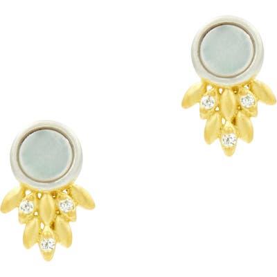 Freida Rothman Fleur Bloom Mother-Of-Pearl Earrings