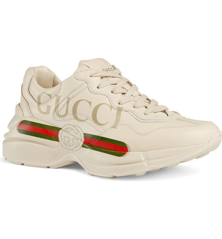 GUCCI Rhyton Logo Sneaker, Main, color, 900