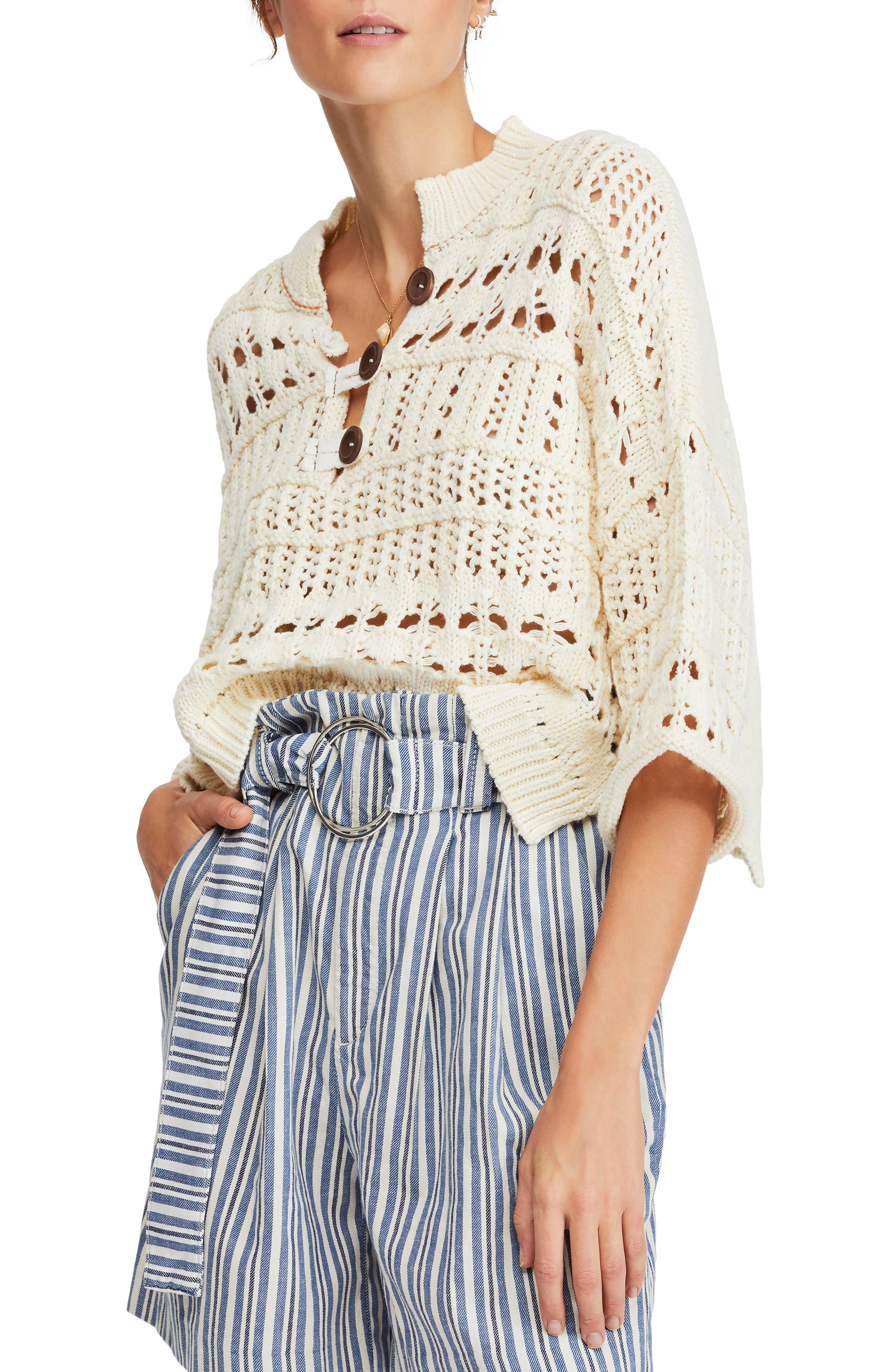 Dreams Tonight Crop Sweater, Main, color, 103